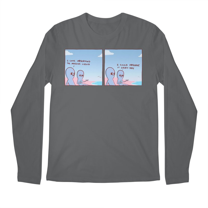 STRANGE PLANET SPECIAL PRODUCT: MASSIVE LIQUID Men's Longsleeve T-Shirt by Nathan W Pyle Shop | Strange Planet Store | Thread