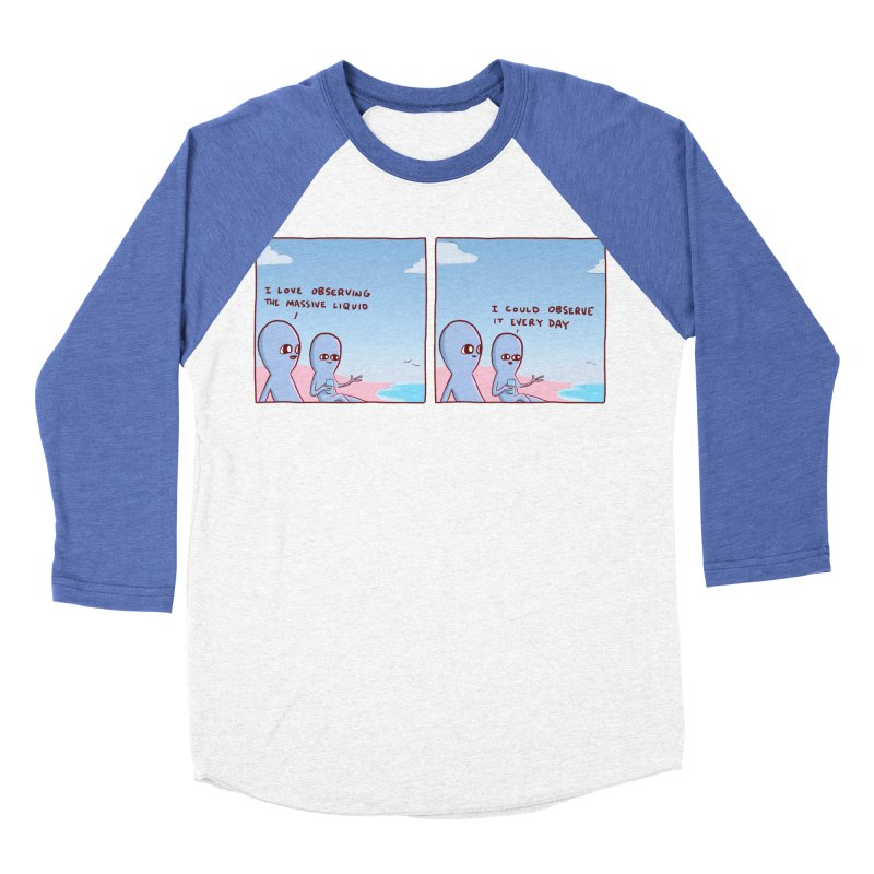 STRANGE PLANET SPECIAL PRODUCT: MASSIVE LIQUID Women's Baseball Triblend Longsleeve T-Shirt by Nathan W Pyle
