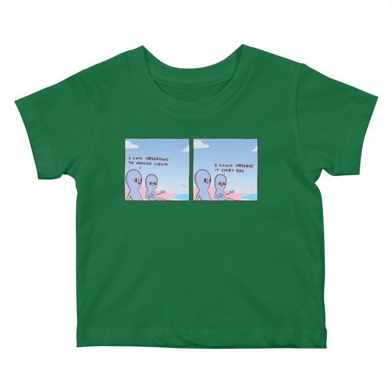 STRANGE PLANET SPECIAL PRODUCT: MASSIVE LIQUID Kids Baby T-Shirt by Nathan W Pyle