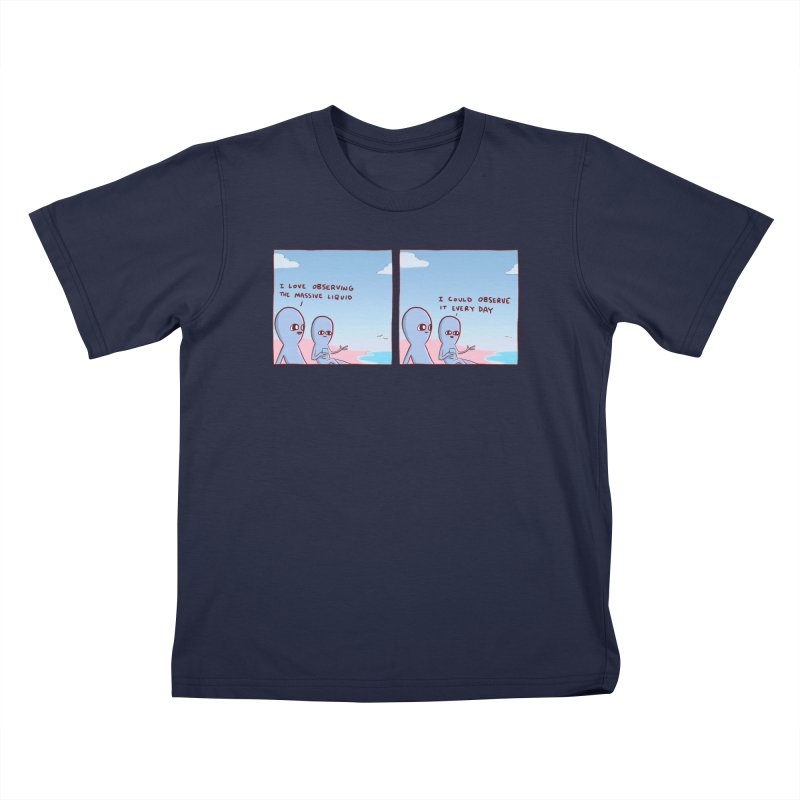STRANGE PLANET SPECIAL PRODUCT: MASSIVE LIQUID Kids T-Shirt by Nathan W Pyle