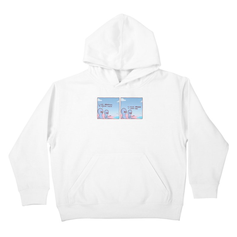 STRANGE PLANET SPECIAL PRODUCT: MASSIVE LIQUID Kids Pullover Hoody by Nathan W Pyle