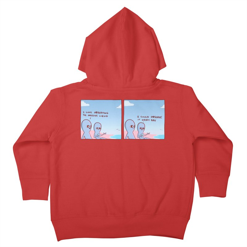 STRANGE PLANET SPECIAL PRODUCT: MASSIVE LIQUID Kids Toddler Zip-Up Hoody by Nathan W Pyle