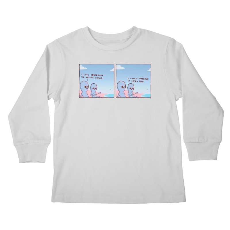 STRANGE PLANET SPECIAL PRODUCT: MASSIVE LIQUID Kids Longsleeve T-Shirt by Nathan W Pyle