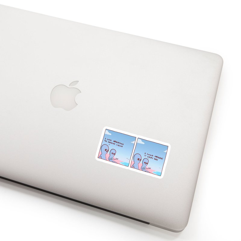 STRANGE PLANET SPECIAL PRODUCT: MASSIVE LIQUID Accessories Sticker by Nathan W Pyle