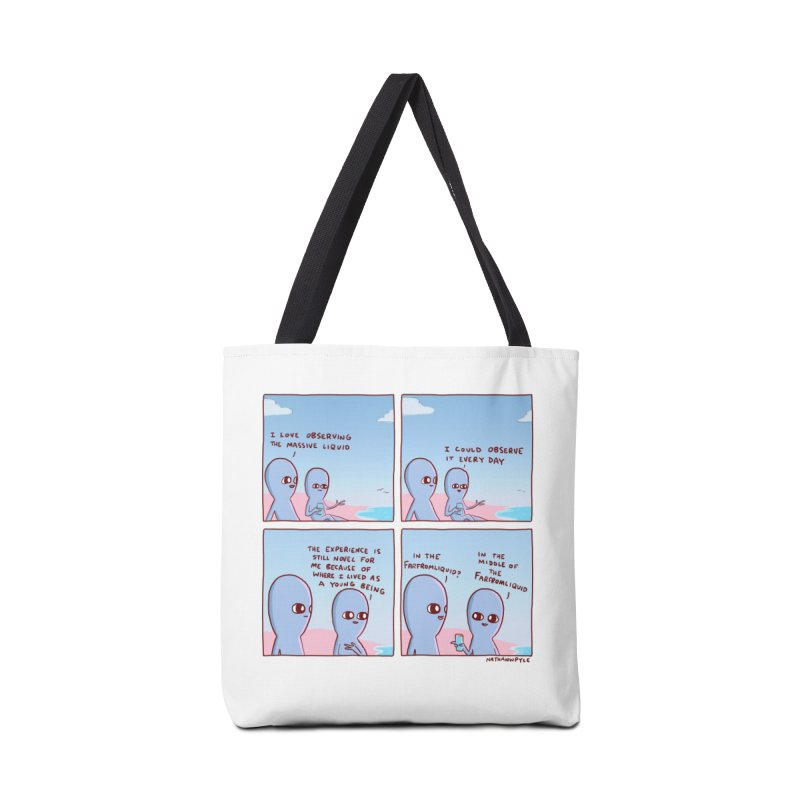 STRANGE PLANE SPECIAL PRODUCT: THE FARFROMLIQUID Accessories Tote Bag Bag by Nathan W Pyle