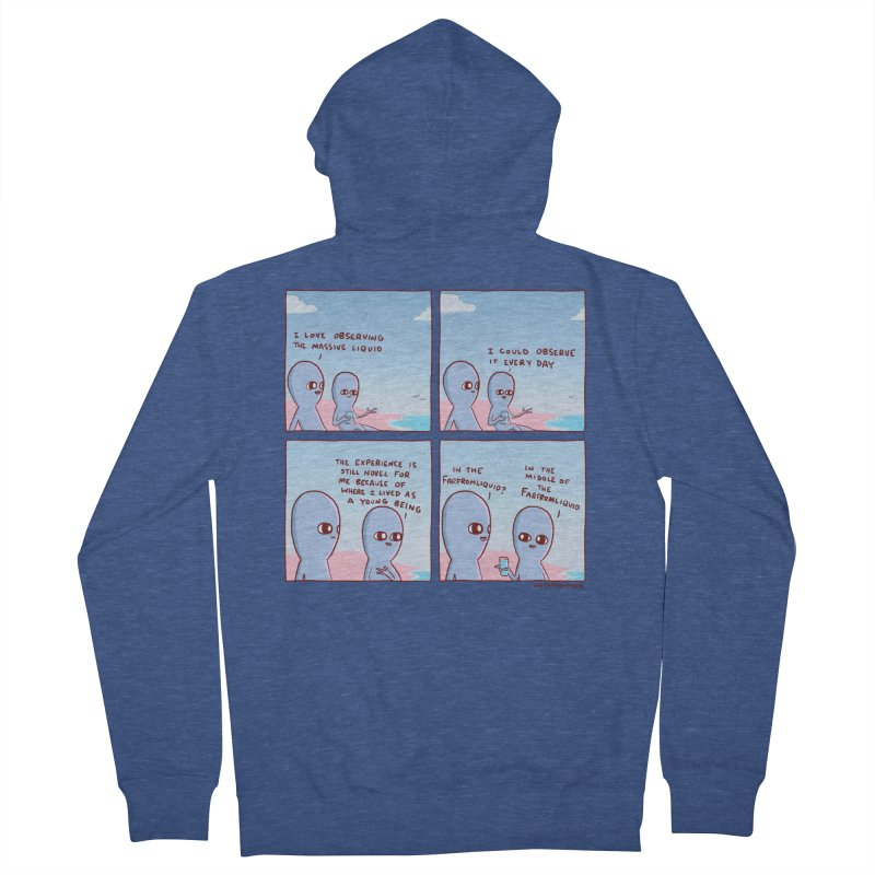 STRANGE PLANE SPECIAL PRODUCT: THE FARFROMLIQUID Women's French Terry Zip-Up Hoody by Nathan W Pyle