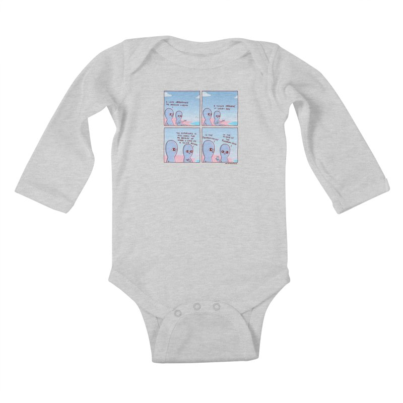 STRANGE PLANE SPECIAL PRODUCT: THE FARFROMLIQUID Kids Baby Longsleeve Bodysuit by Nathan W Pyle