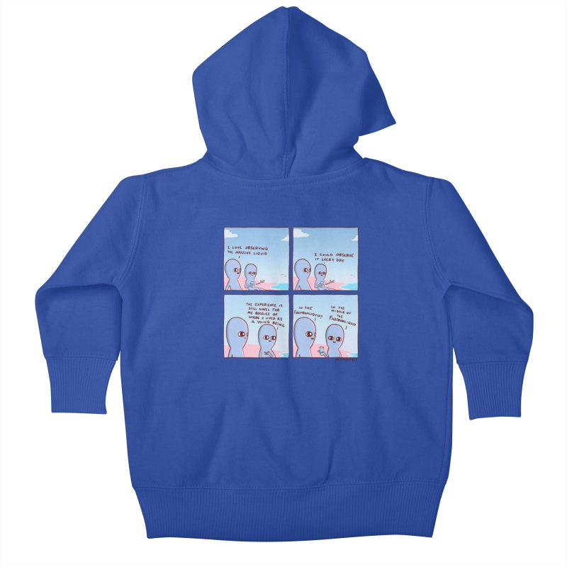 STRANGE PLANE SPECIAL PRODUCT: THE FARFROMLIQUID Kids Baby Zip-Up Hoody by Nathan W Pyle