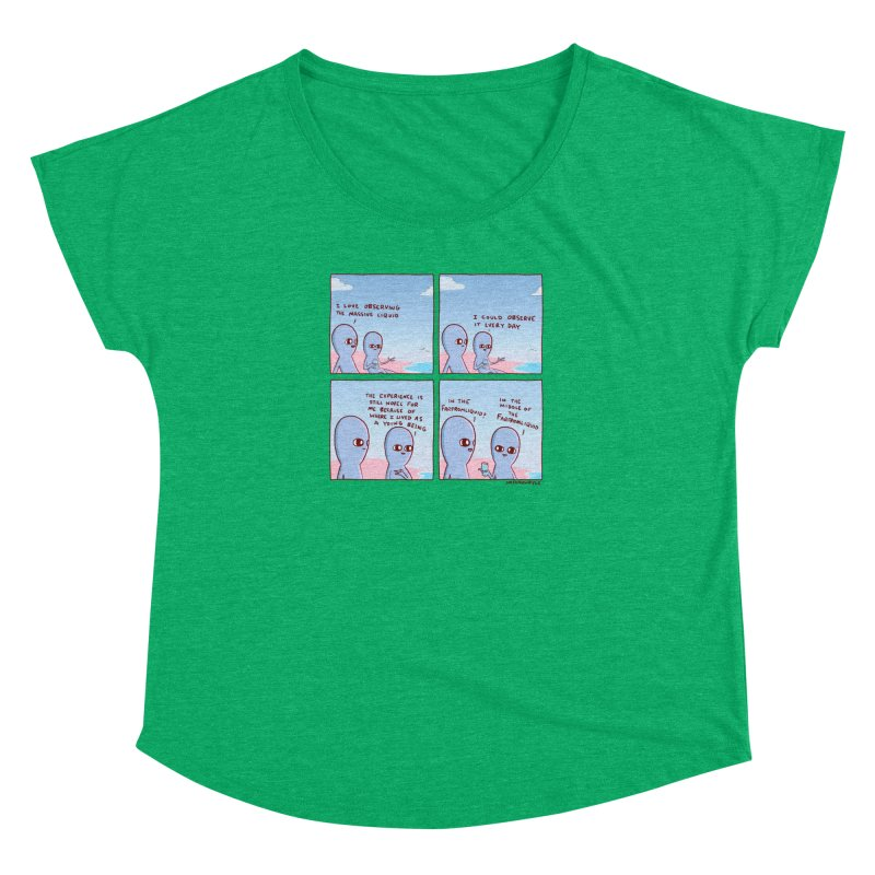 STRANGE PLANE SPECIAL PRODUCT: THE FARFROMLIQUID Women's Dolman Scoop Neck by Nathan W Pyle