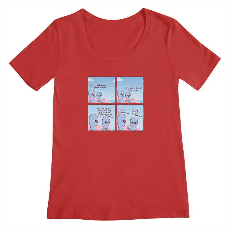 STRANGE PLANE SPECIAL PRODUCT: THE FARFROMLIQUID Women's Regular Scoop Neck by Nathan W Pyle