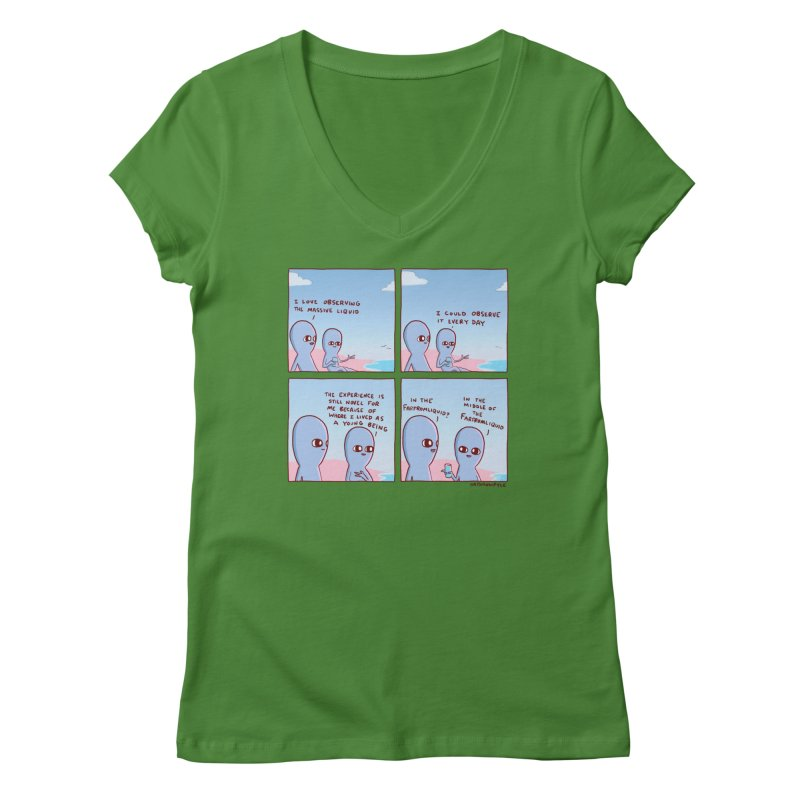 STRANGE PLANE SPECIAL PRODUCT: THE FARFROMLIQUID Women's Regular V-Neck by Nathan W Pyle