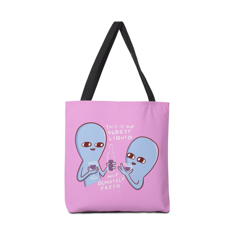 STRANGE PLANET SPECIAL PRODUCT: OLDEST LIQUID Accessories Tote Bag Bag by Nathan W Pyle
