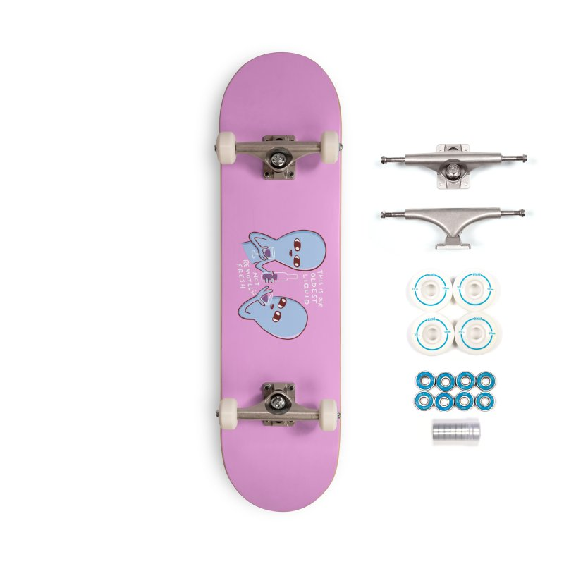 STRANGE PLANET SPECIAL PRODUCT: OLDEST LIQUID Accessories Complete - Basic Skateboard by Nathan W Pyle