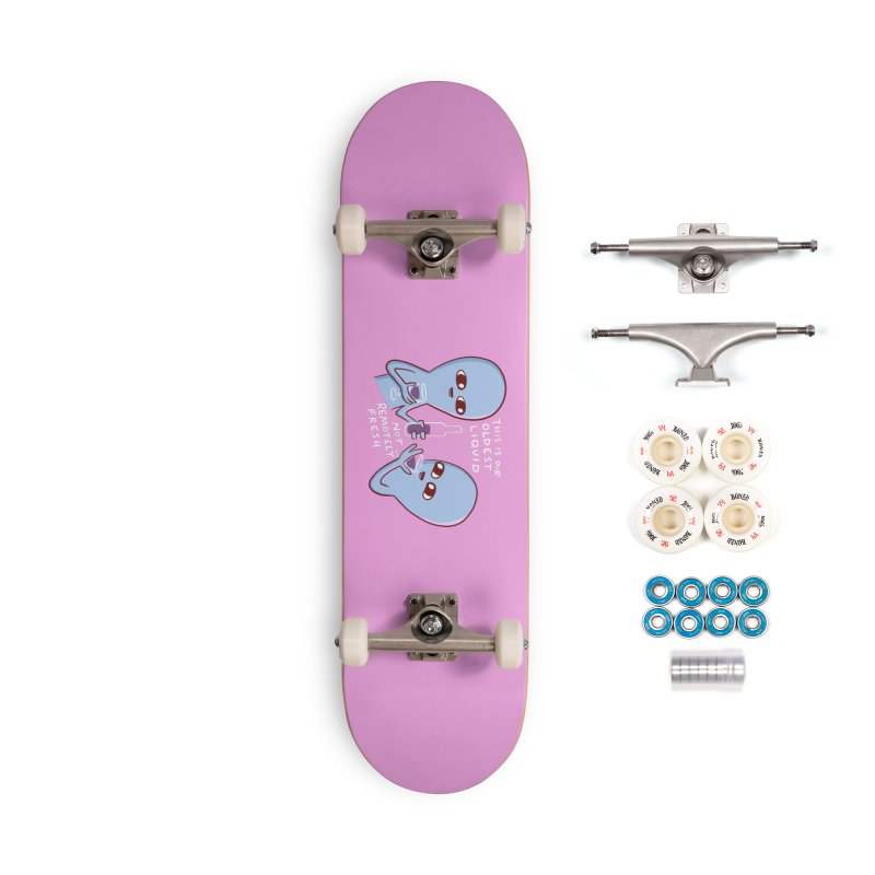 STRANGE PLANET SPECIAL PRODUCT: OLDEST LIQUID Accessories Complete - Premium Skateboard by Nathan W Pyle