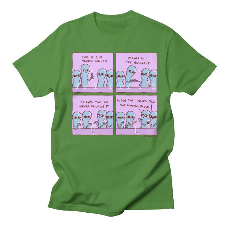 STRANGE PLANET: THIS IS OLDEST LIQUID Men's Regular T-Shirt by Nathan W Pyle