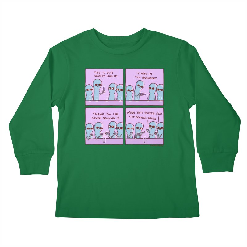 STRANGE PLANET: THIS IS OLDEST LIQUID Kids Longsleeve T-Shirt by Nathan W Pyle