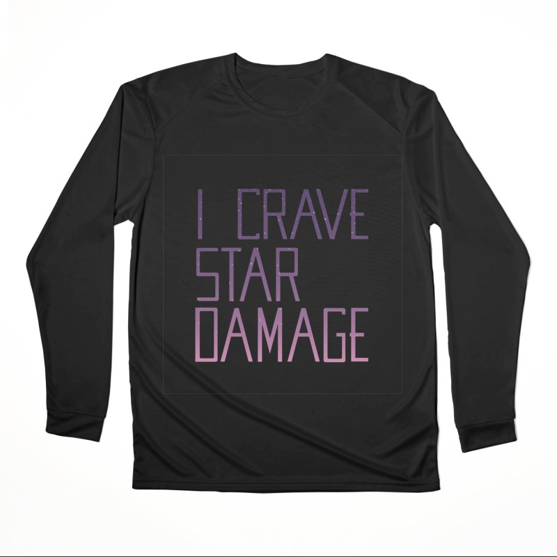 STRANGE PLANET: STAR DAMAGE - BLACK ACCESSORIES AND PRINTS Women's Performance Unisex Longsleeve T-Shirt by Nathan W Pyle