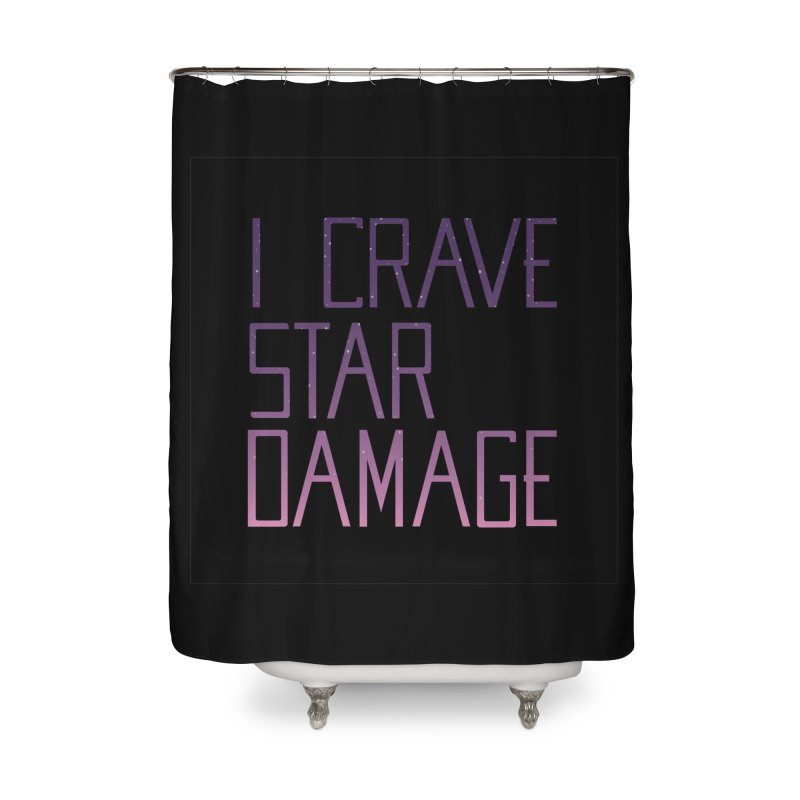 STRANGE PLANET: STAR DAMAGE - BLACK ACCESSORIES AND PRINTS Home Shower Curtain by Nathan W Pyle