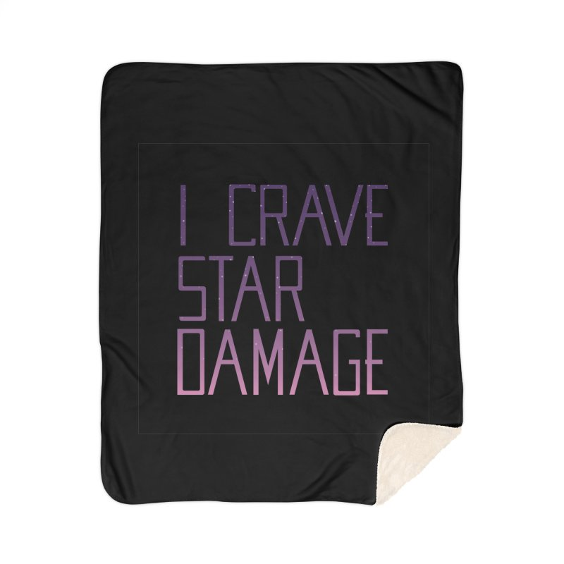 STRANGE PLANET: STAR DAMAGE - BLACK ACCESSORIES AND PRINTS Home Sherpa Blanket Blanket by Nathan W Pyle
