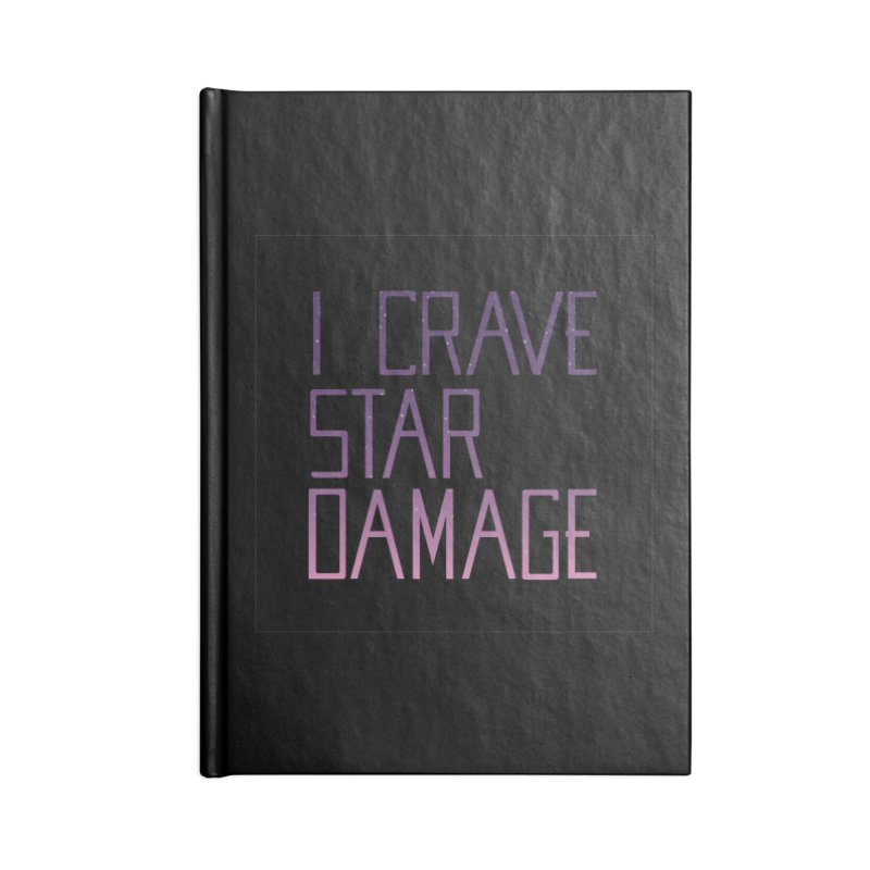 STRANGE PLANET: STAR DAMAGE - BLACK ACCESSORIES AND PRINTS Accessories Lined Journal Notebook by Nathan W Pyle