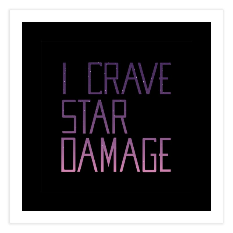STRANGE PLANET: STAR DAMAGE - BLACK ACCESSORIES AND PRINTS Home Fine Art Print by Nathan W Pyle