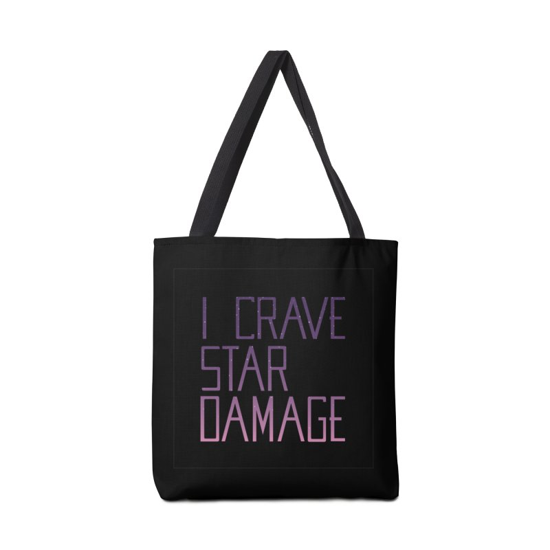 STRANGE PLANET: STAR DAMAGE - BLACK ACCESSORIES AND PRINTS Accessories Tote Bag Bag by Nathan W Pyle