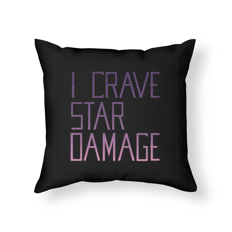 STRANGE PLANET: STAR DAMAGE - BLACK ACCESSORIES AND PRINTS Home Throw Pillow by Nathan W Pyle