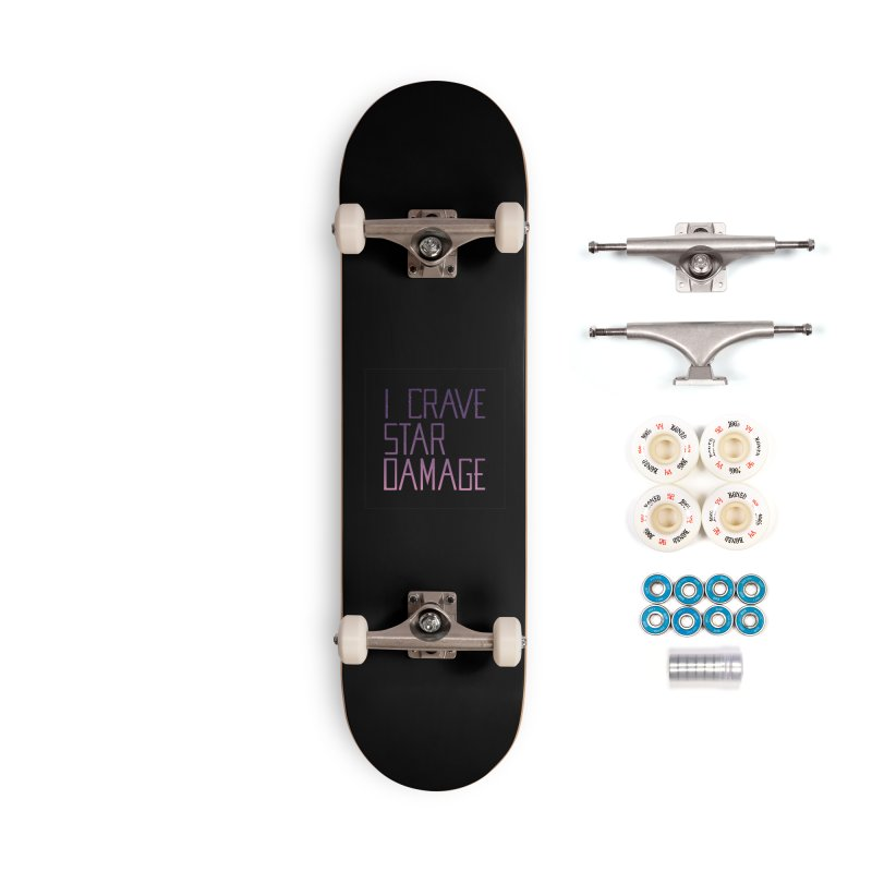 STRANGE PLANET: STAR DAMAGE - BLACK ACCESSORIES AND PRINTS Accessories Complete - Premium Skateboard by Nathan W Pyle
