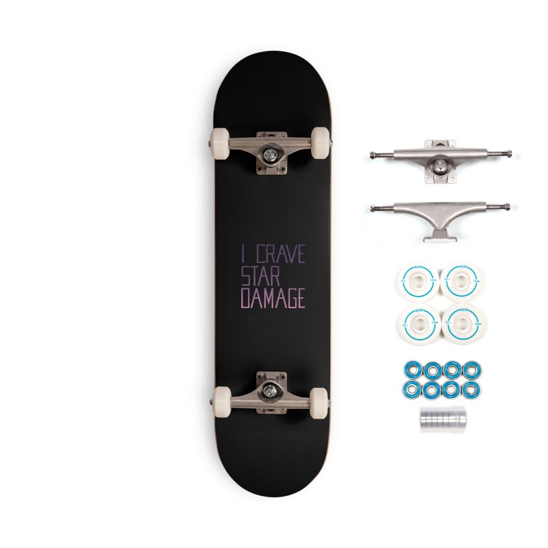 STRANGE PLANET: STAR DAMAGE - BLACK V2 Accessories Skateboard by Nathan W Pyle