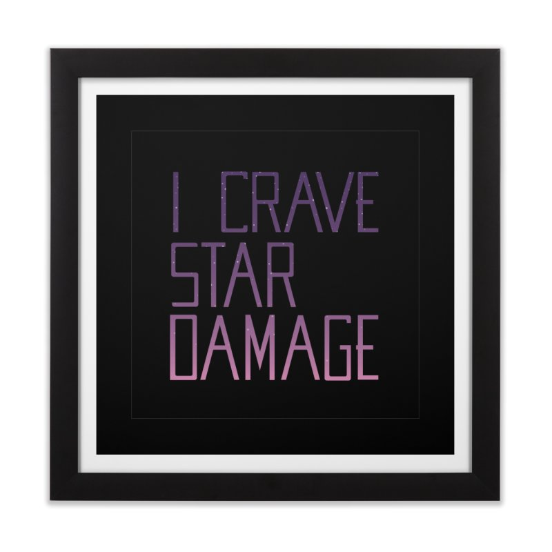 STRANGE PLANET: STAR DAMAGE - BLACK ACCESSORIES AND PRINTS Home Framed Fine Art Print by Nathan W Pyle