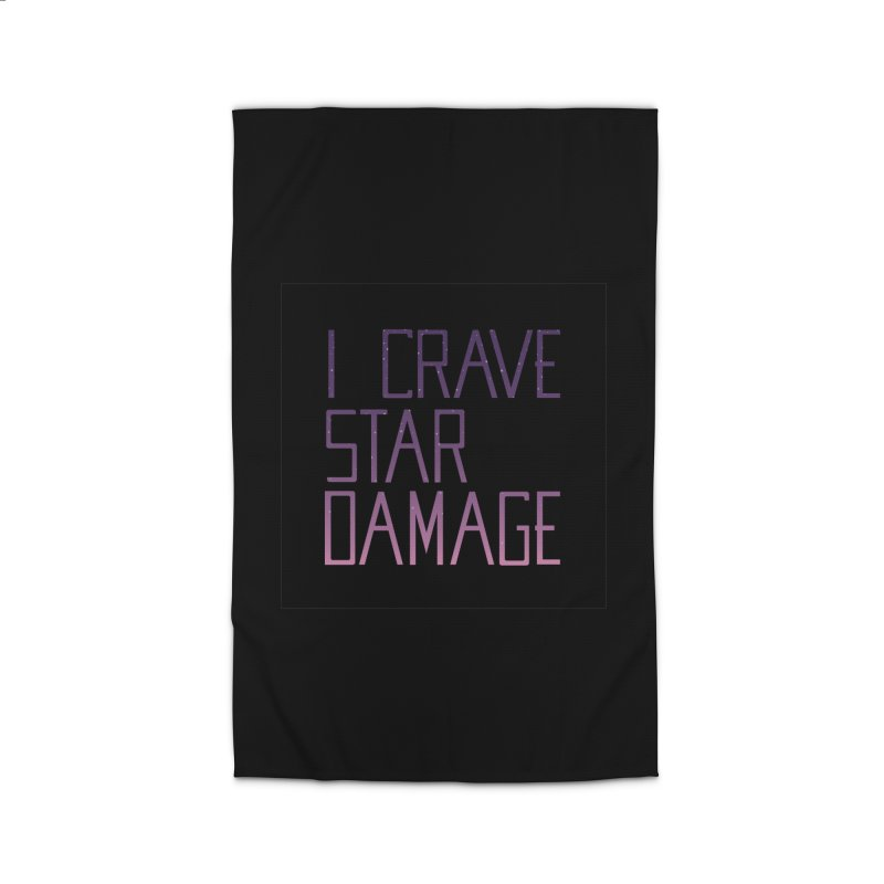 STRANGE PLANET: STAR DAMAGE - BLACK ACCESSORIES AND PRINTS Home Rug by Nathan W Pyle