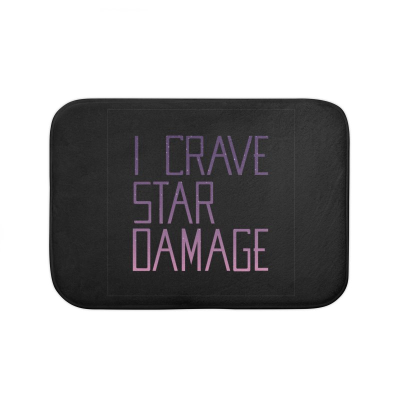 STRANGE PLANET: STAR DAMAGE - BLACK ACCESSORIES AND PRINTS Home Bath Mat by Nathan W Pyle