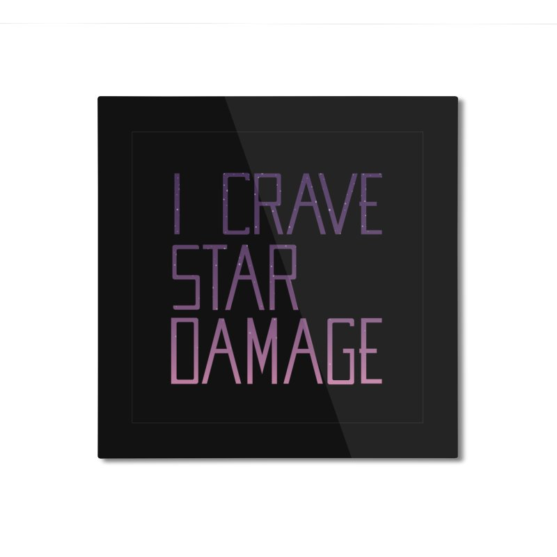STRANGE PLANET: STAR DAMAGE - BLACK ACCESSORIES AND PRINTS Home Mounted Aluminum Print by Nathan W Pyle