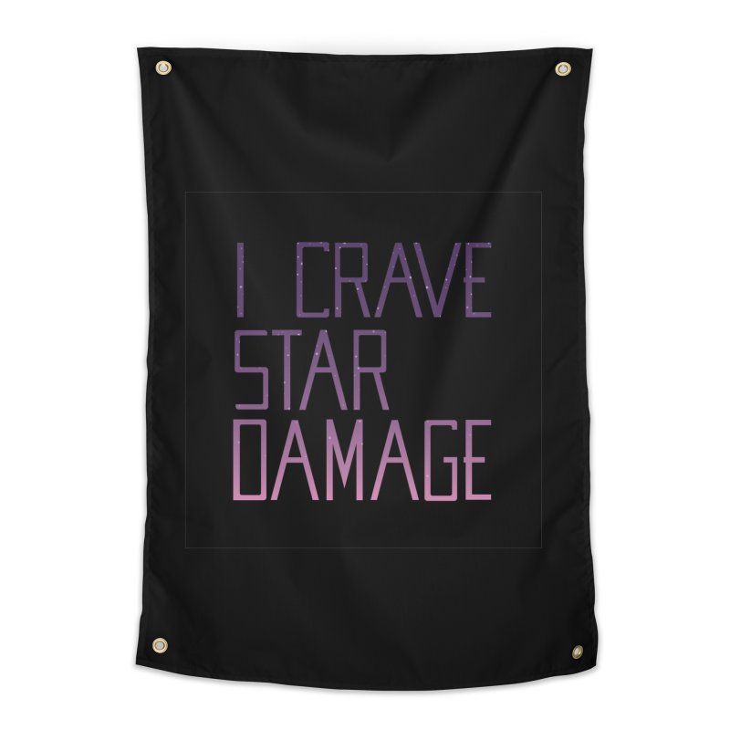STRANGE PLANET: STAR DAMAGE - BLACK ACCESSORIES AND PRINTS Home Tapestry by Nathan W Pyle