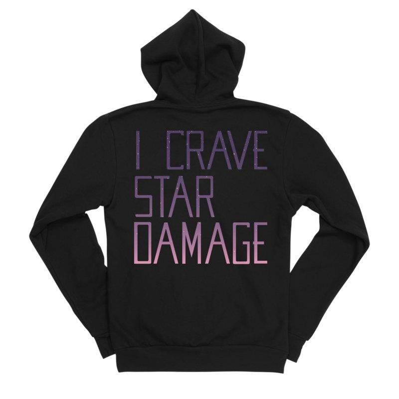STRANGE PLANET: STAR DAMAGE - APPAREL Men's Sponge Fleece Zip-Up Hoody by Nathan W Pyle