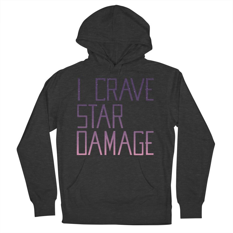STRANGE PLANET: STAR DAMAGE - APPAREL Men's French Terry Pullover Hoody by Nathan W Pyle