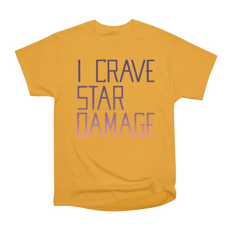 STRANGE PLANET: STAR DAMAGE - APPAREL Women's Heavyweight Unisex T-Shirt by Nathan W Pyle