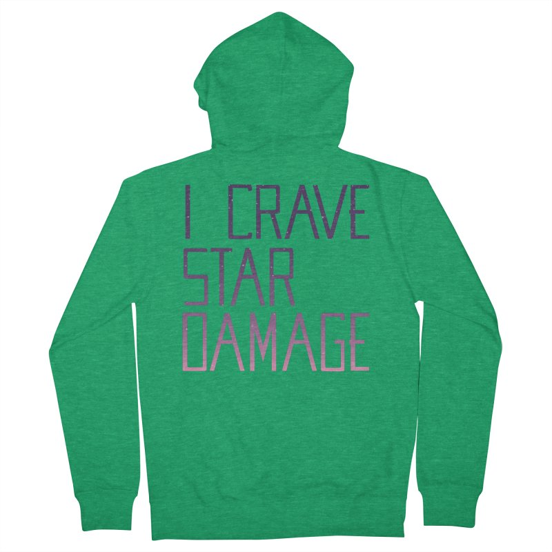 STRANGE PLANET: STAR DAMAGE - APPAREL Women's French Terry Zip-Up Hoody by Nathan W Pyle