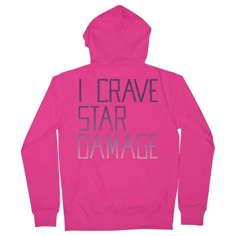 STRANGE PLANET: STAR DAMAGE - APPAREL Men's French Terry Zip-Up Hoody by Nathan W Pyle