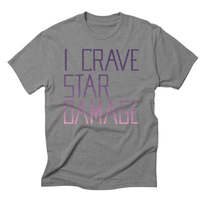 STRANGE PLANET: STAR DAMAGE - APPAREL Men's Triblend T-Shirt by Nathan W Pyle