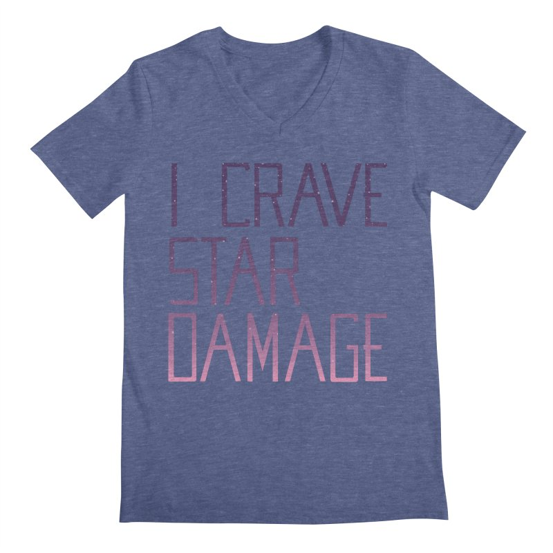STRANGE PLANET: STAR DAMAGE - APPAREL Men's Regular V-Neck by Nathan W Pyle