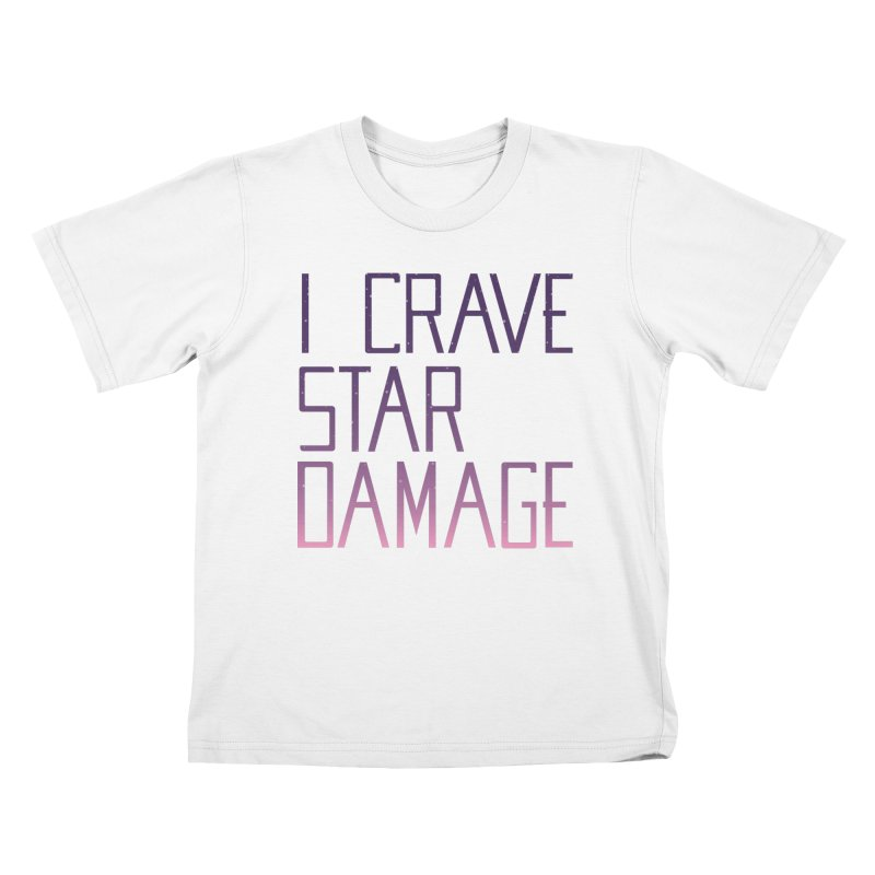 STRANGE PLANET: STAR DAMAGE - APPAREL Kids T-Shirt by Nathan W Pyle