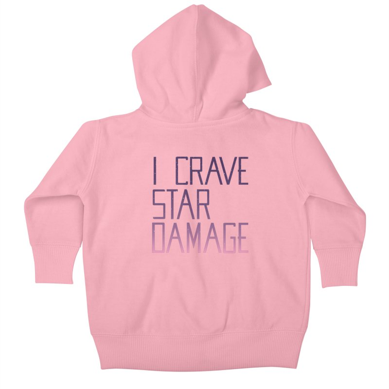 STRANGE PLANET: STAR DAMAGE - APPAREL Kids Baby Zip-Up Hoody by Nathan W Pyle