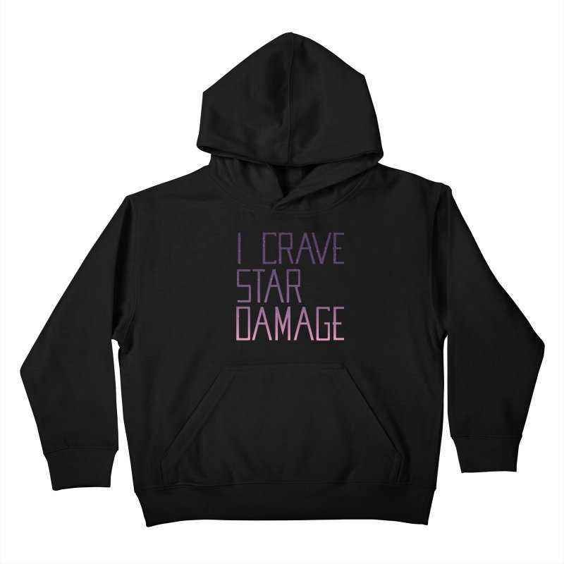 STRANGE PLANET: STAR DAMAGE - APPAREL Kids Pullover Hoody by Nathan W Pyle