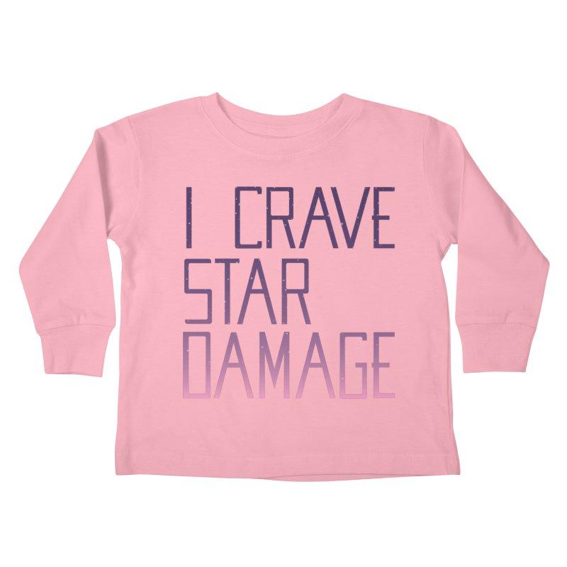STRANGE PLANET: STAR DAMAGE - APPAREL Kids Toddler Longsleeve T-Shirt by Nathan W Pyle