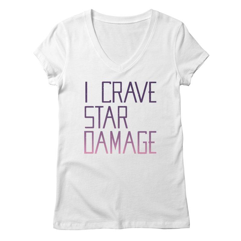 STRANGE PLANET: STAR DAMAGE - APPAREL Women's Regular V-Neck by Nathan W Pyle