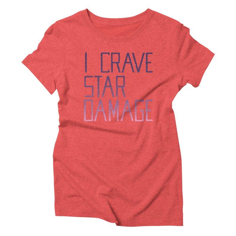 STRANGE PLANET: STAR DAMAGE - APPAREL Women's Triblend T-Shirt by Nathan W Pyle