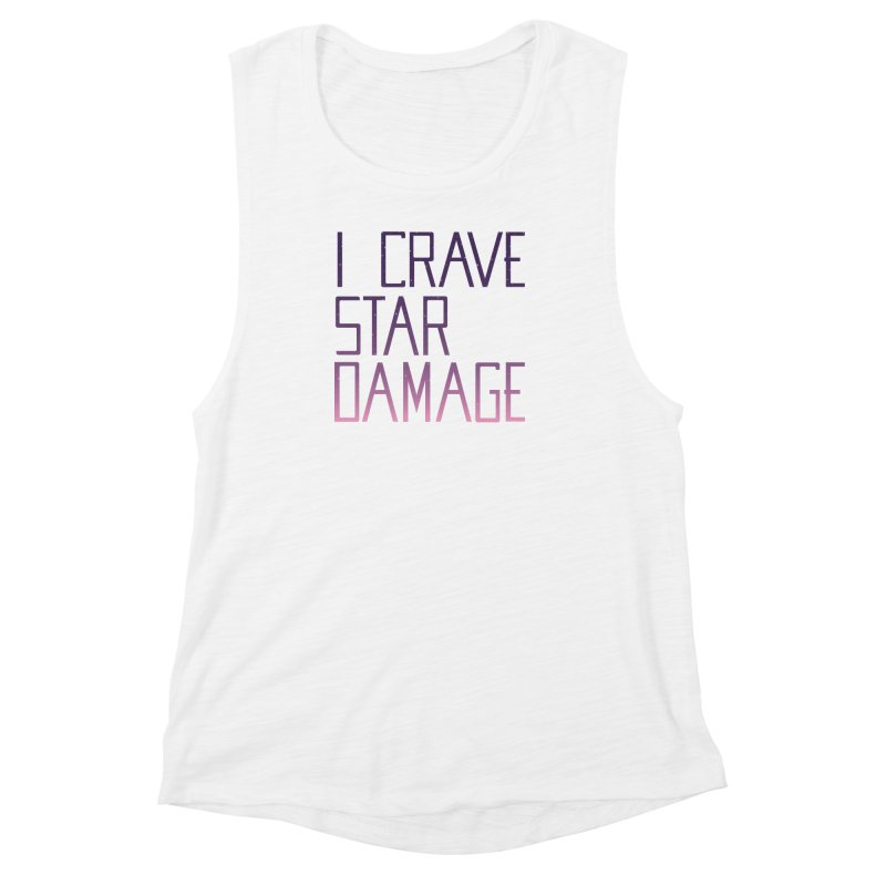 STRANGE PLANET: STAR DAMAGE - APPAREL Women's Muscle Tank by Nathan W Pyle