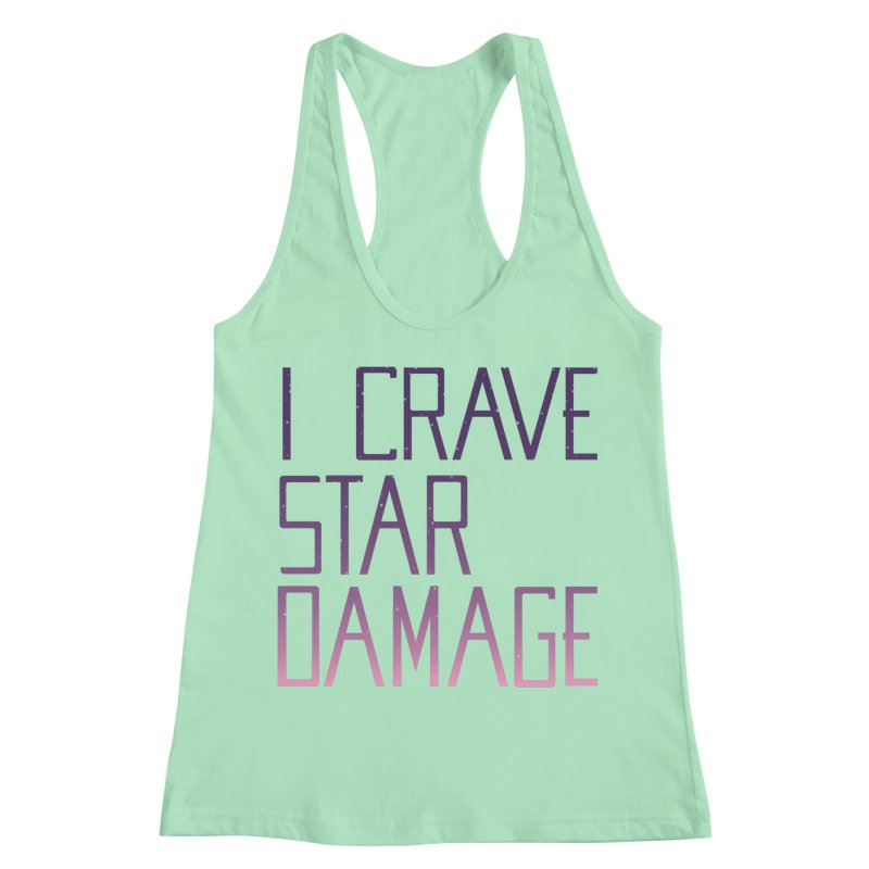STRANGE PLANET: STAR DAMAGE - APPAREL Women's Racerback Tank by Nathan W Pyle