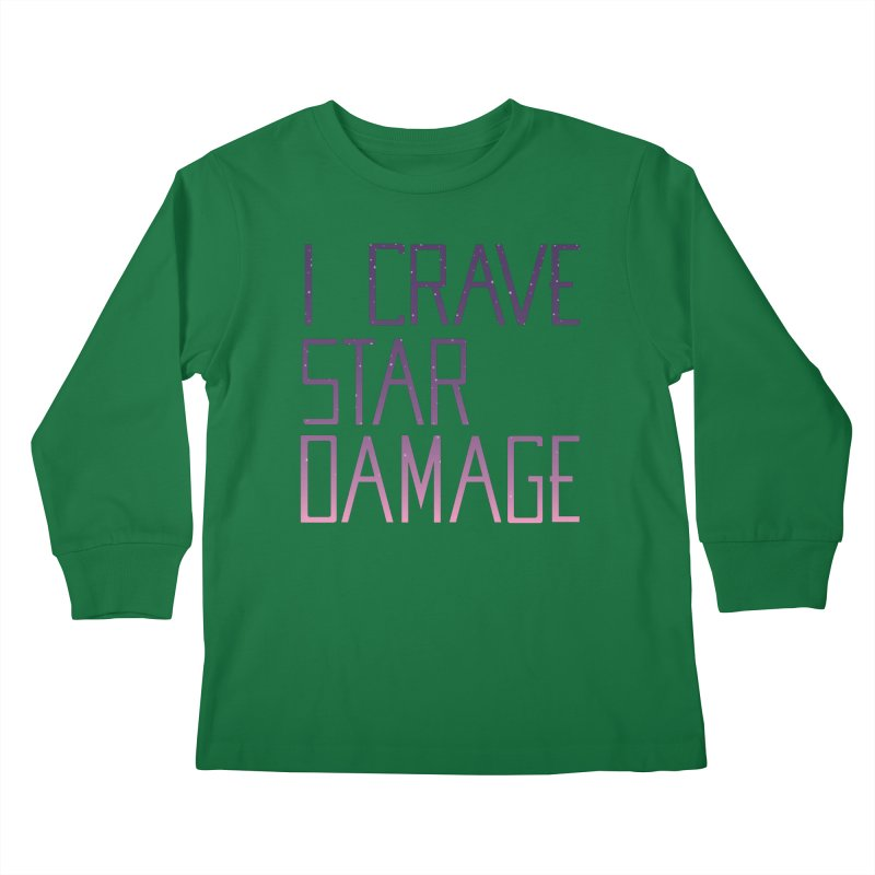 STRANGE PLANET: STAR DAMAGE - APPAREL Kids Longsleeve T-Shirt by Nathan W Pyle